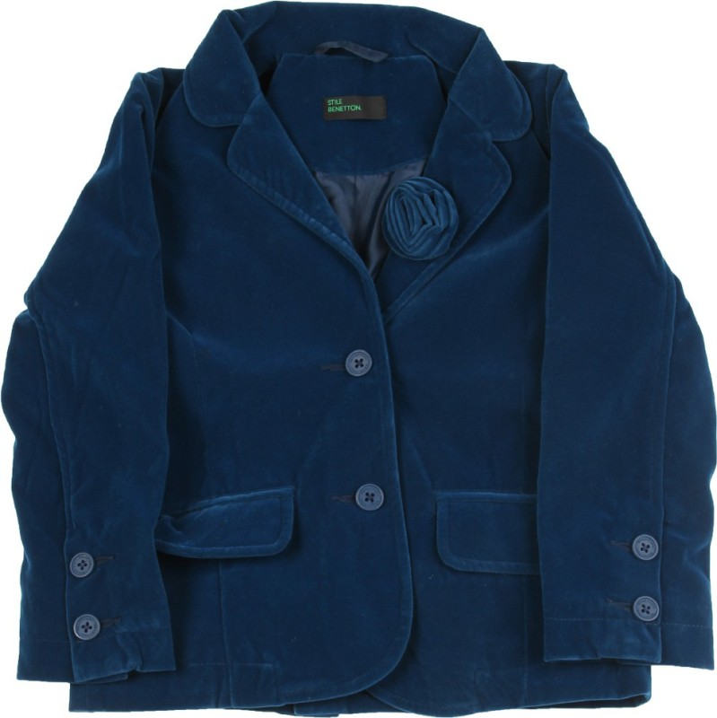 United Colors of Benetton. Full Sleeve Solid Girls Fleece Jacket