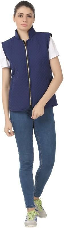 shyammc Sleeveless Self Design Women Jacket