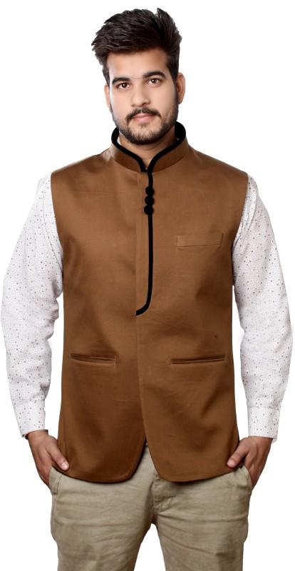 Veera Paridhaan Sleeveless Solid Mens Jacket