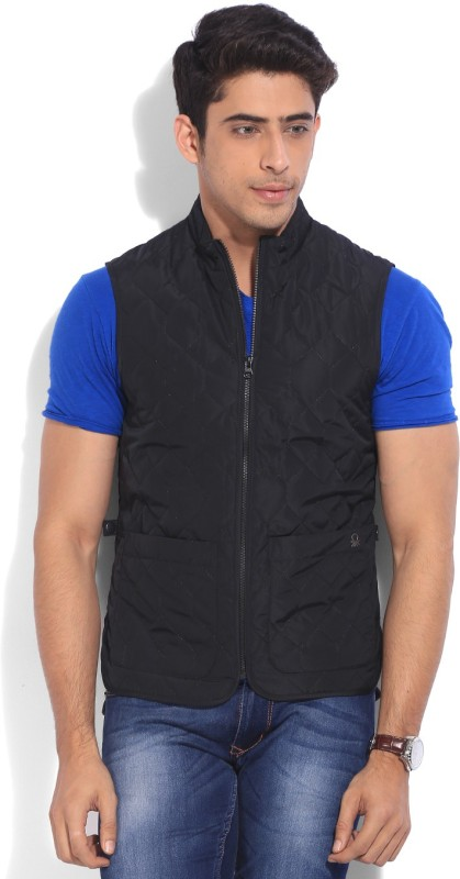 United Colors of Benetton. Sleeveless Solid Men's Quilted Jacket