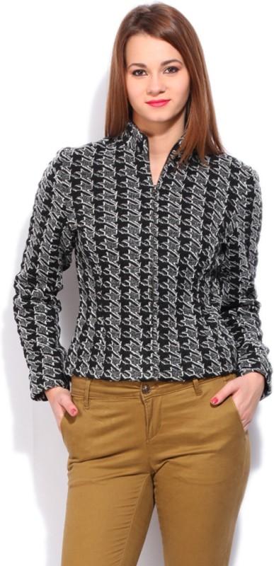 Van Heusen Full Sleeve Self Design Women Jacket