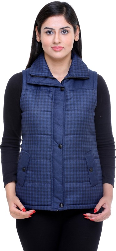 Trufit Sleeveless Checkered Women Jacket