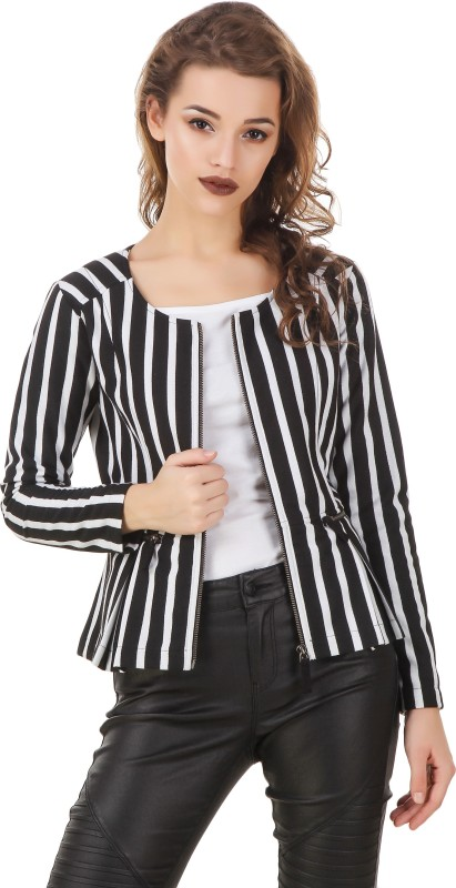Texco Full Sleeve Striped Womens Jacket