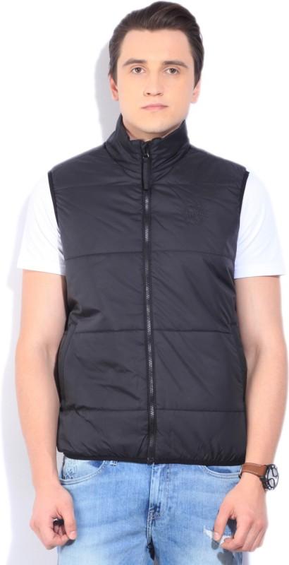 Lee Sleeveless Self Design Mens Jacket