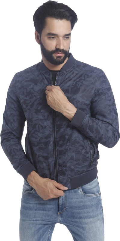 Jack & Jones Full Sleeve Printed Mens Jacket
