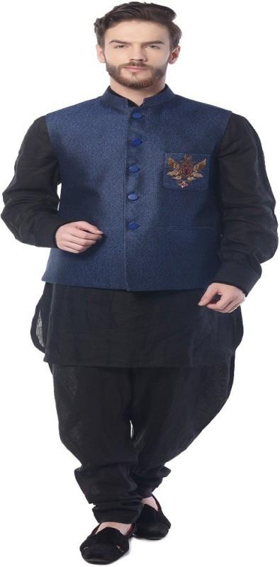 Mohanlal Sons Sleeveless Self Design Mens Jacket