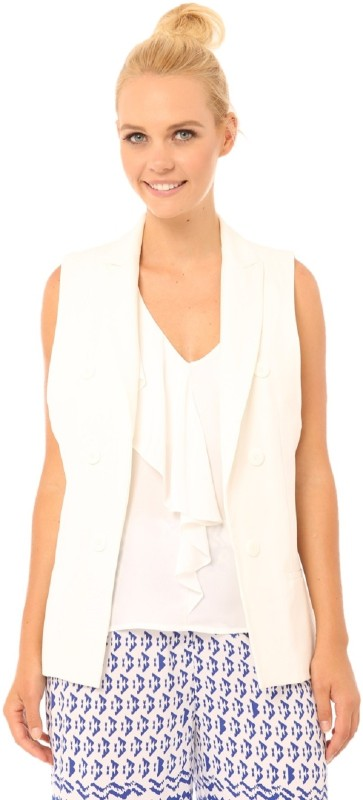 Living Doll Sleeveless Solid Women Jacket