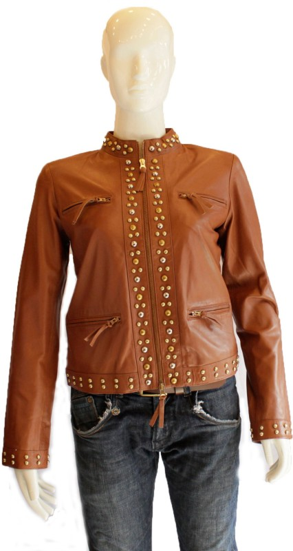 Tab Full Sleeve Solid Women Jacket