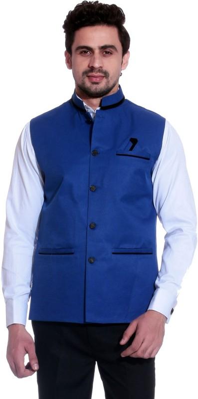 PrimeClub Sleeveless Solid Men's Jacket