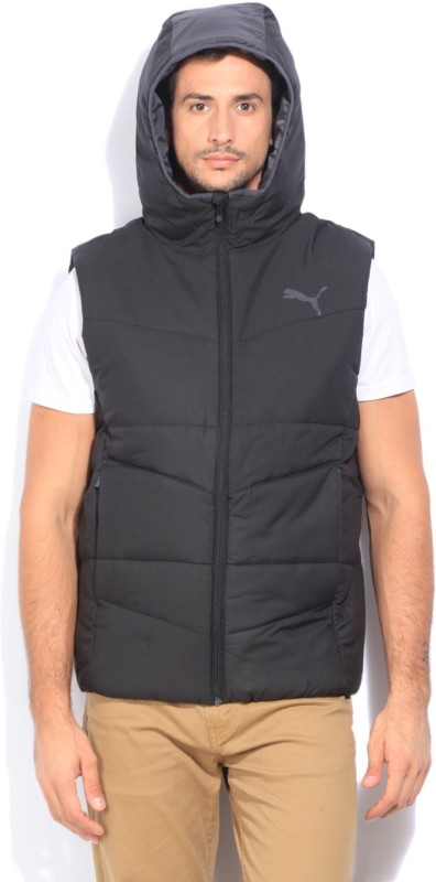 Puma Sleeveless Self Design Mens Quilted Jacket