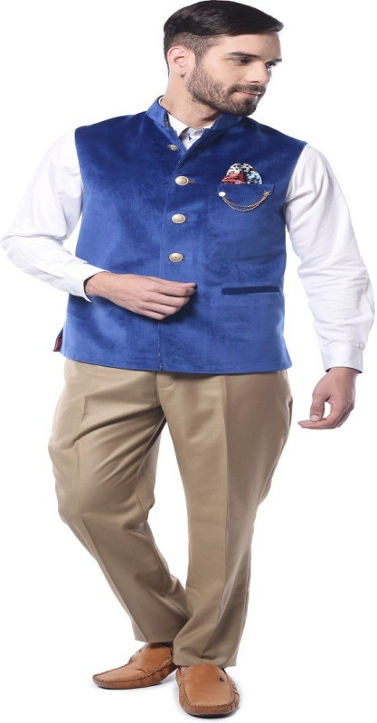 Mohanlal Sons Sleeveless Solid Mens Jacket