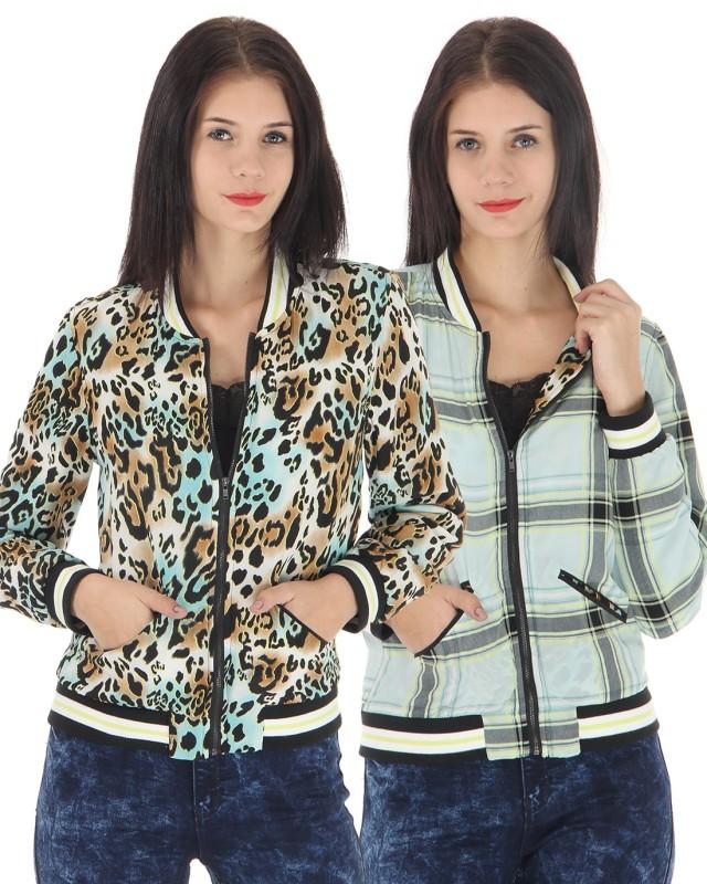Vero Moda Full Sleeve Animal Print, Checkered Women Jacket