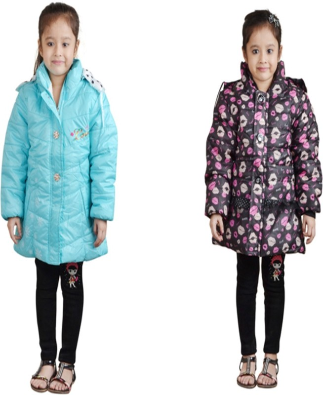Crazeis Full Sleeve Solid Girls Jacket