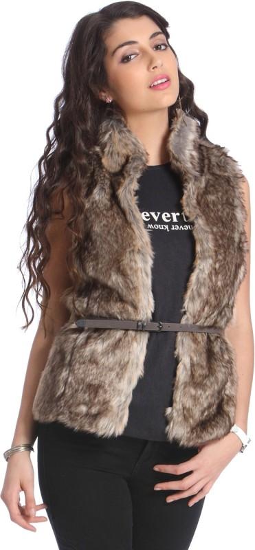 Only Sleeveless Self Design Women Jacket