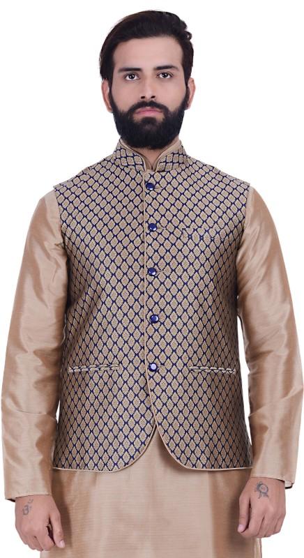 Kisah Self Design Men's Waistcoat