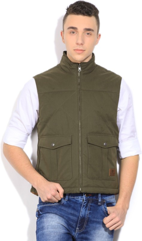 U.S. Polo Assn. Sleeveless Self Design Men's Reversible Jacket