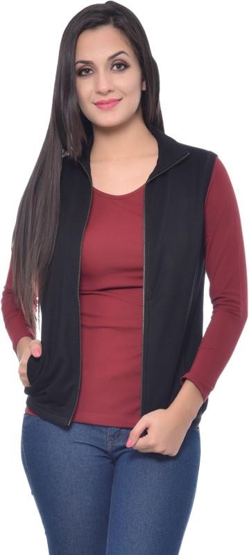 Frenchtrendz Sleeveless Solid Women Jacket