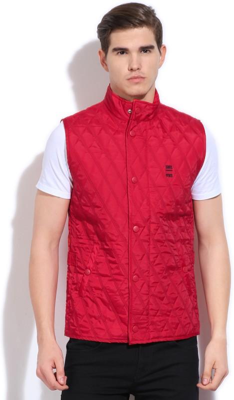 Van Heusen Sleeveless Solid Mens Jacket