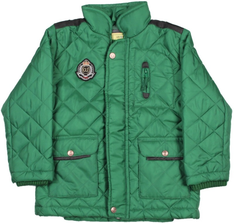 Gini & Jony Full Sleeve Solid Boys Quilted Jacket