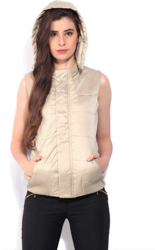 Allen Solly Sleeveless Self Design Women Jacket