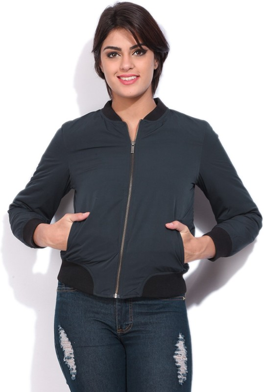 Allen Solly Full Sleeve Solid Women Quilted Jacket