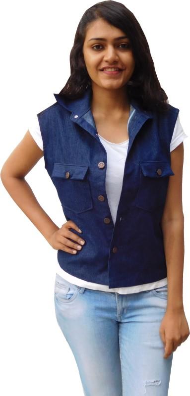 Oshin Sleeveless Solid Women Denim Jacket
