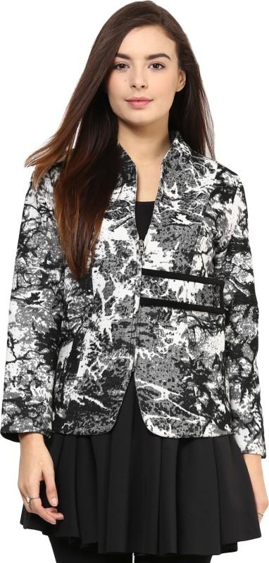 Rare Full Sleeve Geometric Print Women Jacket