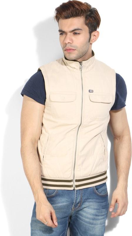 Arrow Sport Sleeveless Solid Mens Reversible Jacket