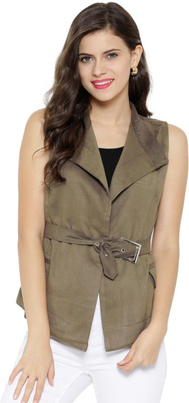 Sassafras Sleeveless Solid Women Jacket