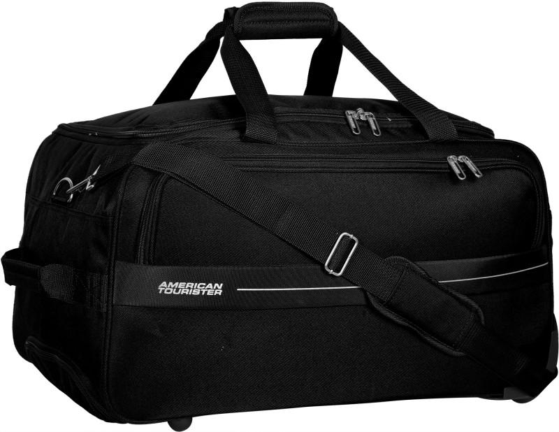 American Tourister Marco 22 inch/55 cm (Expandable) Travel Duffel Bag(Black)