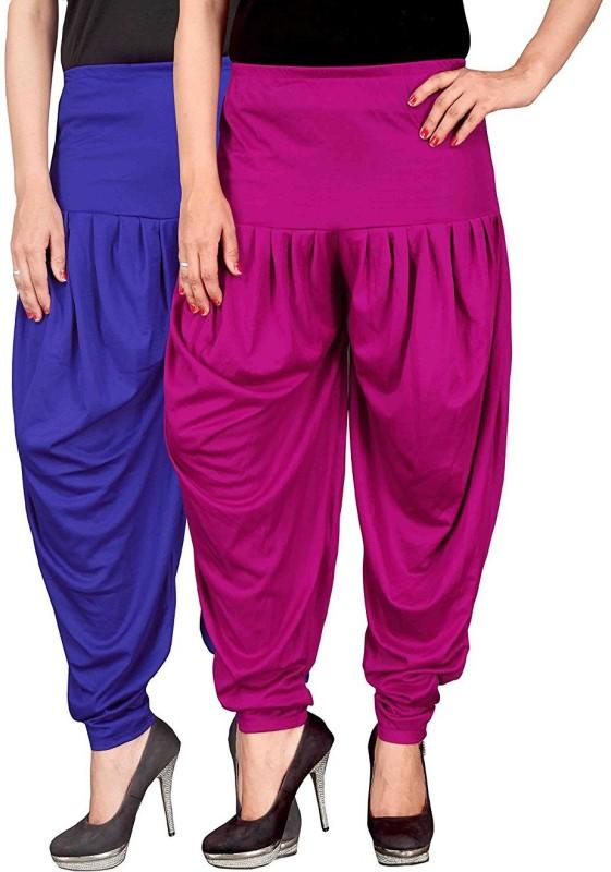 Navyataa Solid, Self Design Lycra Women Harem Pants