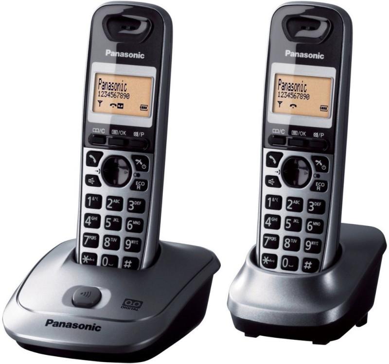 Panasonic KX-TG2522 Cordless Landline Phone with Answering Machine(metallic)