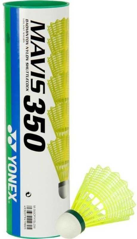 Live With An Attitude Yonex Mavis 350 Plastic Shuttle - Yellow(Slow,77, 77, Pack of 6)