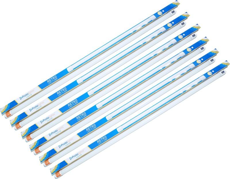 PROTOLIGHTS 4 Feet 20 Watt LED Tube Light Straight Linear LED Tube Light(White, Pack of 6)