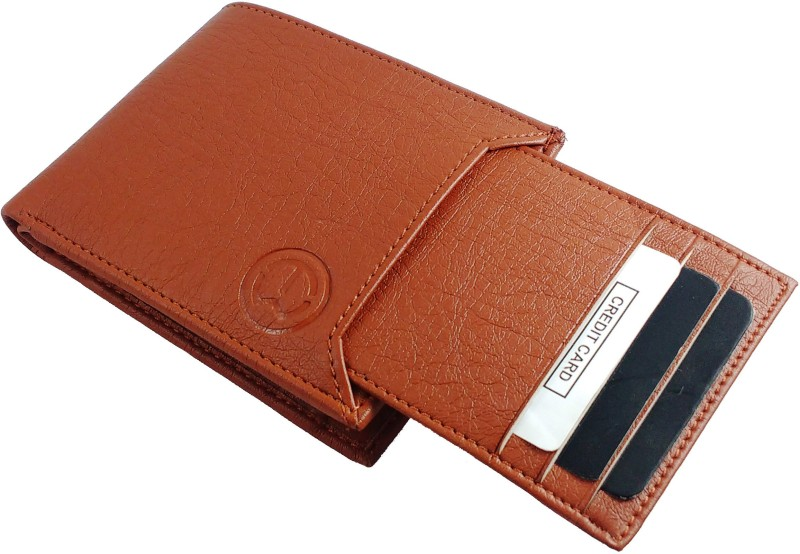 TnW Men Tan Artificial Leather Wallet(7 Card Slots)