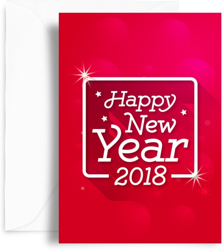 Buy happy new year 2018 special greeting cards online at best kaarti happy new year greeting cardmulticolor pack of 1 m4hsunfo