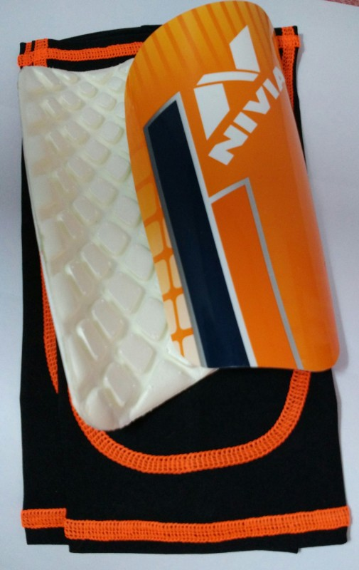 Nivia Dominator Football Shin Guard(M, Orange)