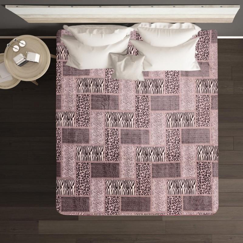 A Homes Grace Printed Single Blanket Grey & Black(AC Blanket)