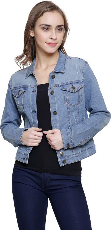 MansiCollections Full Sleeve Solid Women's Denim Jacket
