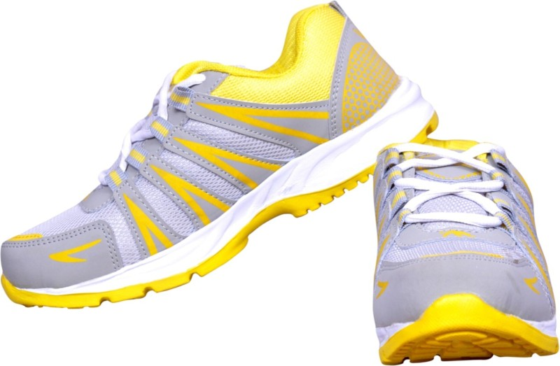 The Scarpa Shoes Mark Silver Running Shoes For Men(Silver, Yellow)