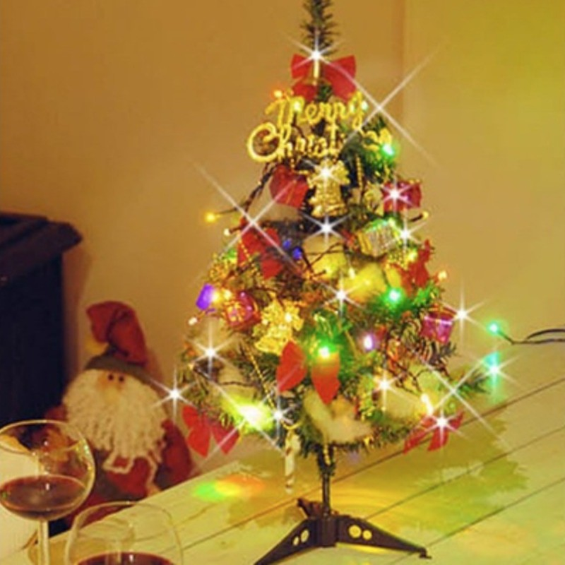 A To Z Traders Fir 60 cm (1.97 ft) Artificial Christmas Tree(Multicolor)