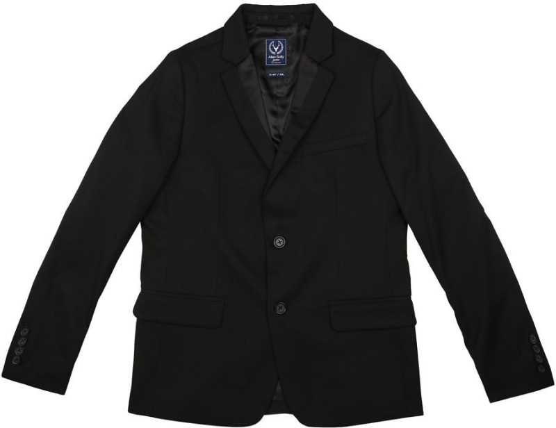 Allen Solly Solid Single Breasted Casual Boys Blazer(Black)