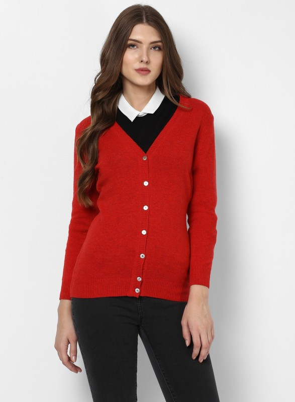 Monte Carlo Womens Button Solid Cardigan