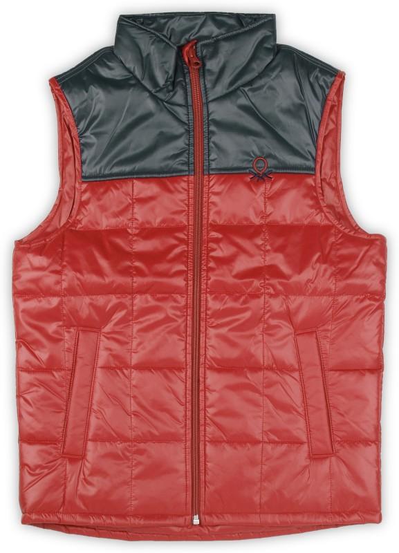 United Colors of Benetton Sleeveless Solid Boys Jacket