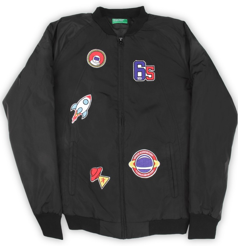 United Colors of Benetton Full Sleeve Applique Boys Jacket