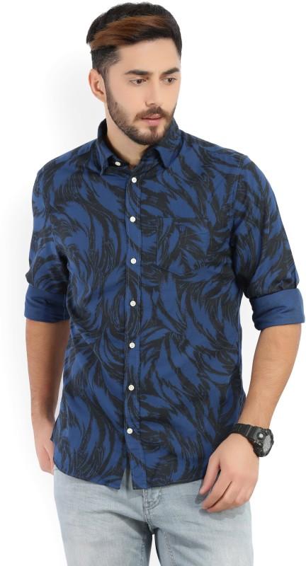 Gant Men Printed Casual Black, Blue Shirt
