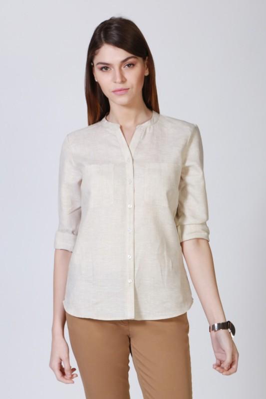 Allen Solly Women Solid Casual Mandarin Shirt