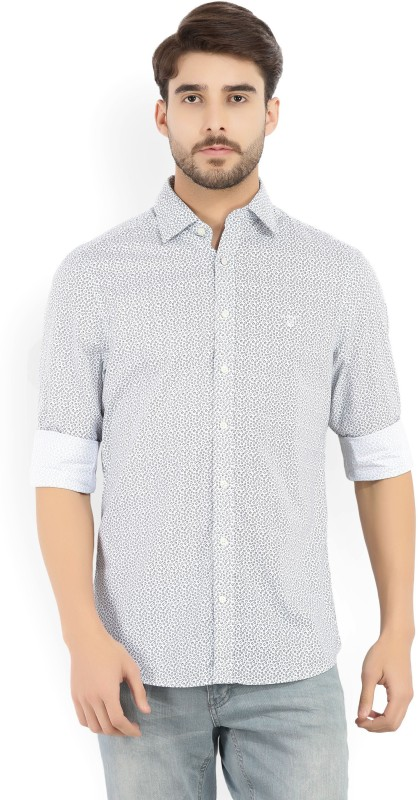 Gant Mens Printed Casual Black, White Shirt