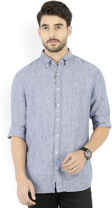 Gant Mens Solid Formal Blue Shirt