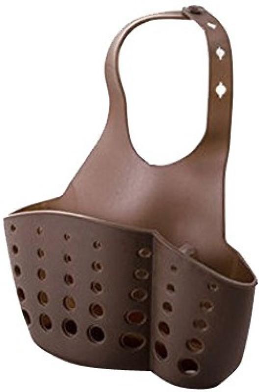 Futaba Kitchen Sink Snap Button Type Hanging Basket - Brown Sink Sponge Holder(Plastic)